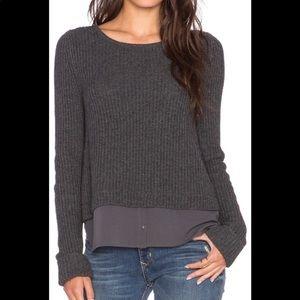 Joie Frene Wool/Cashmere Shirttail Hem Sweater